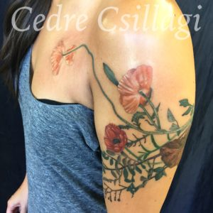 flowers color tattoo foliage