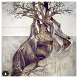 nunzio, painting, duplication, tree, animal, earth,death