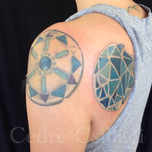 color circles shapes resin in_honor color tattoo